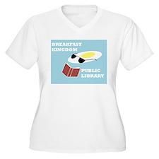Breakfast Kingdom Public Library Plus Size T-Shirt