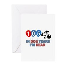 Funny 105 year old designs Greeting Cards (Pk of 1