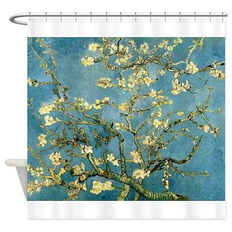Van Gogh Blossoming Almond Tree Shower Curtain