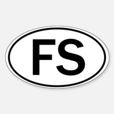 """""""Warning Food Scientist..."""" Oval Decal"""