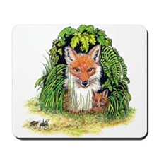 Red Foxes Mousepad
