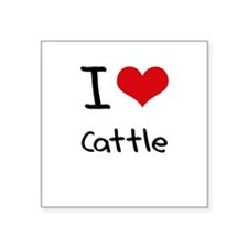I love Cattle Sticker