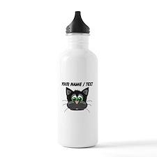 Custom Cartoon Cat Face Water Bottle