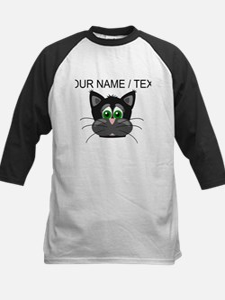 Custom Cartoon Cat Face Baseball Jersey