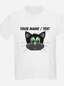 Custom Cartoon Cat Face T-Shirt