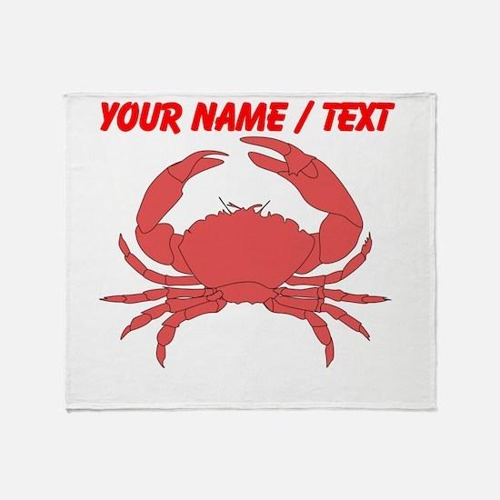 Custom Red Crab Throw Blanket