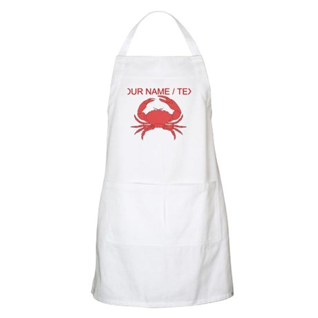 custom red crab apron - Cooking Aprons