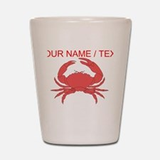 Custom Red Crab Shot Glass
