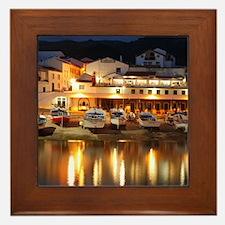 Harbour at dusk Framed Tile