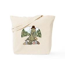 Cartoon Tyrannosaurus Dinosaur Explorer Tote Bag
