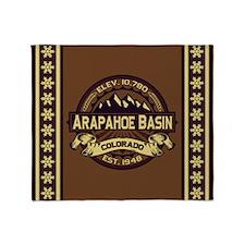 Arapahoe Basin Sepia Throw Blanket