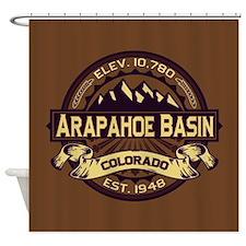 Arapahoe Basin Sepia Shower Curtain