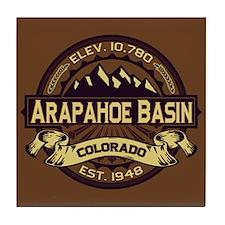 Arapahoe Basin Sepia Tile Coaster