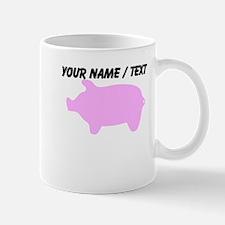 Custom Pink Piggy Silhouette Mug