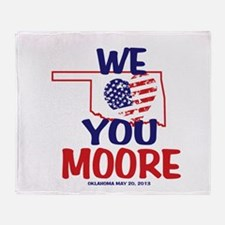 We Love You Moore Flag Heart Throw Blanket