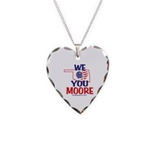 We Love You Moore Flag Heart Necklace Heart Charm
