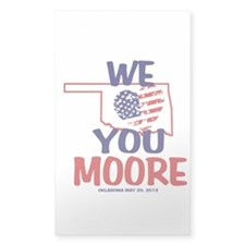 We Love You Moore Flag Heart Decal