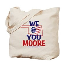 We Love You Moore Flag Heart Tote Bag