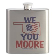 We Love You Moore Flag Heart Flask