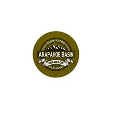 Arapahoe Basin Olive Mini Button