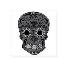 Black And Grey Sugar Skull Sticker