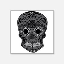 Black And Grey Sugar Skull Sticker