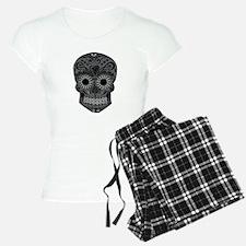 Black And Grey Sugar Skull Pajamas