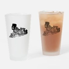 Old Style Train Drinking Glass