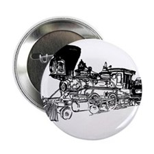 """Old Style Train 2.25"""" Button"""