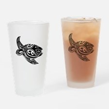 Tribal Turtle Drinking Glass