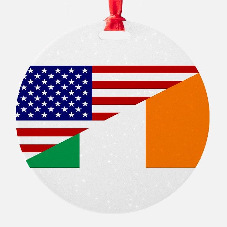 Irish American Flag Ornament