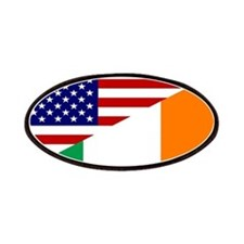 Irish American Flag Patches