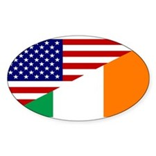 Irish American Flag Decal