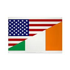 Irish American Flag Rectangle Magnet (10 pack)