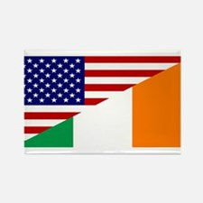 Irish American Flag Rectangle Magnet (10 pack)