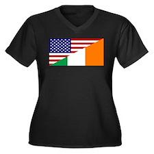 Irish American Flag Plus Size T-Shirt
