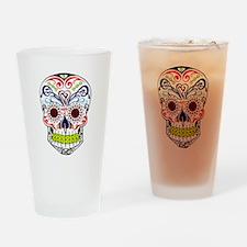 Sugar Skull Drinking Glass