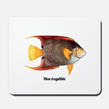 Blue Angelfish Mousepad