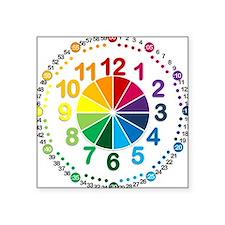 """Read It Myself Clock Square Sticker 3"""" x 3"""""""