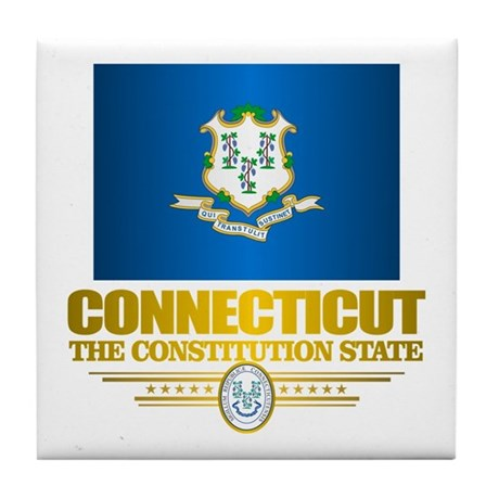 Connecticut Pride Tile Coaster