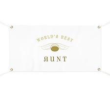 World's Best Aunt (Gold) Banner