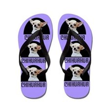 Chihuahua Dog Purple Flip Flops