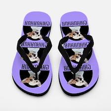 Chihuahua Dog Purple Flip Flops