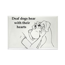 Hear hearts Rectangle Magnet (10 pack)