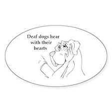 Hear hearts Oval Decal