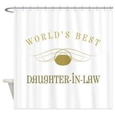 World's Best Daughter-In-Law (Gold) Shower Curtain