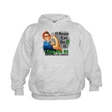 If Rosie Can Do It Kidney Cancer Hoodie