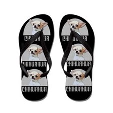 Chihuahua Dog Black Flip Flops