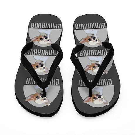 Chihuahua Dog Gray Flip Flops
