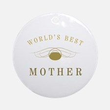 World's Best Mother (Gold) Ornament (Round)